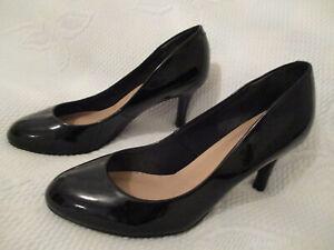 LadiesM & S Collection  Black Patent stiletto court shoe U.K 4 (EUR 37) Wide fit