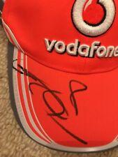 JENSEN BUTTON signed cap McLAREN F1 ORANGE VODAFONE curved brim cap