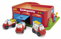 DANTOY EMERGENCY FUN CARS GARAGE & CAR PARK WITH 3 VEHICLES EARLY LEARNING EYFS