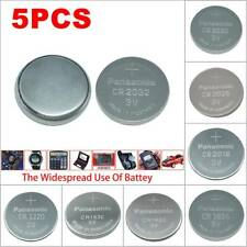 5pcs Battery 3V Button Coin For Panasonic CR1220 Calculator Scale Remote Watch