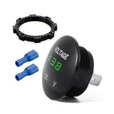 Waterproof Voltmeter Mini Digital Display Voltage Meter Dc 12v 24v Green Led
