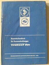 Reparaturhandbuch für Personenkraftwagen Trabant 601/15.Auflage/1978 Zwickau DDR