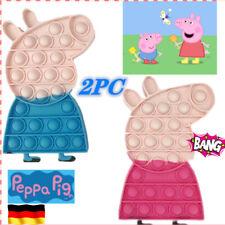 2X Peppa Pig Push POPIt Fidget Bubble Spielzeug Toy Stressabbau Kinder TikTok