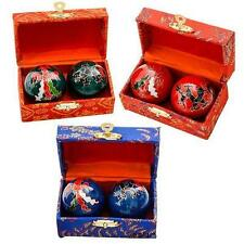 2 SETS DRAGON CHINESE BAODING HEALTH STRESS RELIEF THERAPY BALLS #AA91