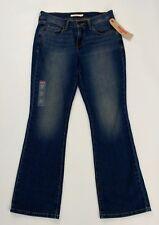 Levis 515 Boot Cut Jeans Womens Sz 4S / 27 Distressed Denim 28 X 29 New