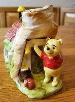 Walt Disney Productions Winnie The Pooh Mr. Sanders House Ceramic Piggy Bank