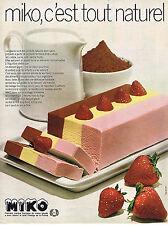 PUBLICITE ADVERTISING 024   1972   MIKO    glaces