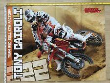 TONY CAIROLI DOUBLE POSTER MOTOSPRINT TEAM RED BULL KTM FACTORY SIDI AIROH MXGP