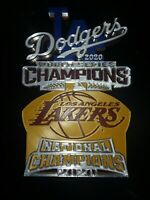 Los Angeles 2020 Duel Champions Limited Edition 3d Print plaque! Dodgers-Lakers!
