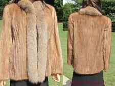 Mink Fur Coat~Jacket~Stroller with silver Crystal Fox Fur Coat Tuxedo~Collar