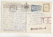 T 8/15 Postage Due Charge Mark 3d To Pay 1971 Sandston Va USA 434b