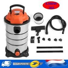 30L Industriel Wet/Dry Aspirateur Commercial en Acier Inoxydable matériel outils