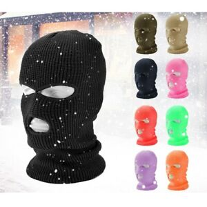 Adult's Full Face Mask Ski Mask Winter Cap Balaclava HoodArmy Mask With 3 Hole
