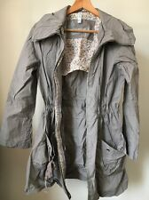 Denim Co Taupe Lightweight Size 10 Cotton Hooded Jacket <T11832