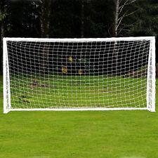 10x6.5FT Full Size Football Net PE Polyethylene Soccer Goal Post Training Match
