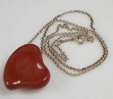 Tiffany & Co ELSA PERETTI Large Full Heart Jasper Sterling Silver Necklace