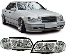 CRYSTAL HEADLIGHTS HEADLAMPS & TURN SIGNALS FOR MERCEDES C CLASS W202 NICE GIFT