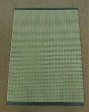 "Dandycord Woven Vinyl Retro Beige Green Kitchen Mat 27"" x 39""  70's Style"