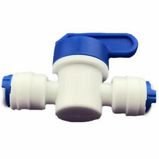 """1/4"""" Ball Valve Inline Tap Quick Connect Push Fit RO Water Reverse Osmosis Tool"""