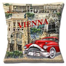 """Scena di Vienna Chiesa edifici Rosso Classico Auto Multi 16"""" CUSCINO COVER"""