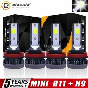 4pcs H11 H9 Combo LED High Low Beam Headlight Fog Bulbs for 07-18 Nissan Altima