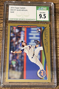 2014 Topps Update Jacob deGrom GOLD RC Debut /2014 CSG 9.5 GEM MINT Mets US-57