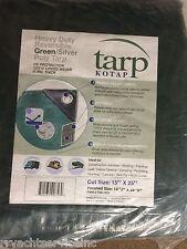 TARP GREEN POLYETHYLENE BOAT STORAGE COVER 136 97161G 15FT X 25FT HEAVY DUTY