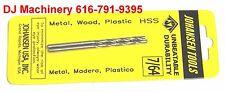 """7/64"""" 10 pcs. Jobbers Length Twist Drill bits hs hss high speed steel 2-5/8 Long"""