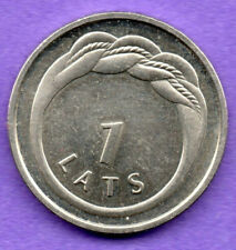 LATVIA LETTLAND 1 LATS 2009 Namejs ring COIN aUNC 931
