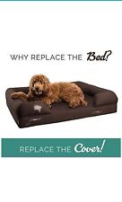 Petlo Brown Pet Sofa Bed Replacement Cover - Removable Water and Scratch - and