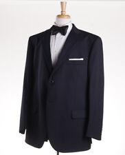 NWT $1375 LUBIAM (L.B.M. 1911) Midnight Blue Stripe Wool Formal Suit US 50 R