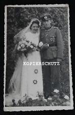 Altes Hochzeits Portrait Foto / 5 Orden / Eisernes Kreuz 1. Klasse 2. WK