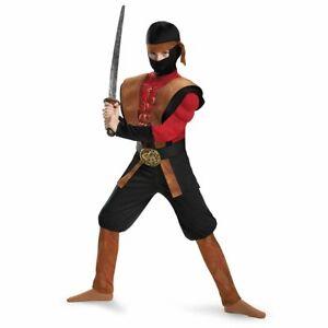Boys Ninja Warrior Muscle Costume