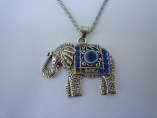 Necklace, Elephant pendant (color silver) 3,5cm charme tibetan animal findings