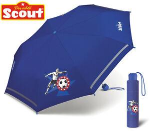 Scout Kinder Regenschirm mit Reflektionsstreifen leicht Fußballstar Fussball