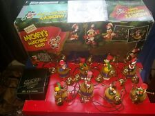 Vintage 1992 Mr. Christmas Mickey's Marching Band 8 Disney Musicians WORKS!