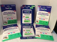 New Tracfone Bring Your Own Phone Sim Kit /Keep Your Own Sim Kit Lot of 7