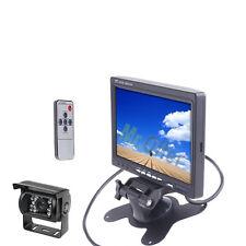 """Monitor lcd 7"""" con retrocamera 18 led parcheggio telecamera per retromarcia"""