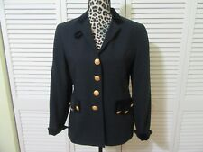 Vintage Mondi The Company Blazer Jacket, Germany 34, USA XS/S, navy,velvet trim