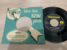"""The Beatles 45 rpm Philippines 7"""" all my loving"""