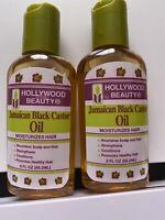 HOLLYWOOD Beauty OIL JAMAICA Black Castor 2oz  2 Unt.Moisturizes Hair