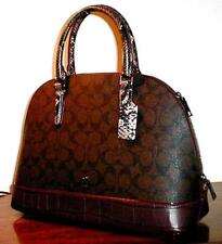 COACH F38246 SIGNATURE SIERRA SATCHEL EXOTIC OXBLOOD / BROWN  ~ MSRP $485
