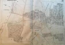 1929 BRIDGEPORT CT NORTH END HORSE TAVERN & ISLAND BROOK RESERVOIR ATLAS MAP