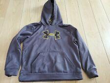 Boys under armour hoodie medium gray 10/12