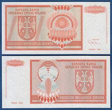 Croatia/krajina 1.000.000.000 dinara 1993 UNC without serial p. r17