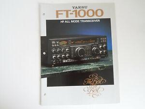 YAESU FT-1000 (GENUINE PRINT BROCHURE ONLY)............RADIO-SPARES-IRELAND