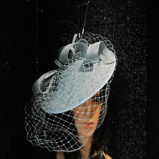 FAILSWORTH CORNFLOWER BLUE WEDDING HAT DISC FASCINATOR MOTHER OF THE BRIDE