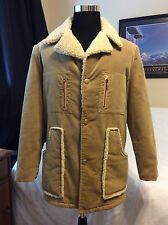 Vtg 60/70s Rare Men's Velvet Sherpa lined Coat Scovill Talon Jacket Size 42L