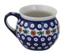 Bunzlauer Keramik Kugelbecher 320ml Dekor 41 böhmischer Kaffeetasse Kaffeepott