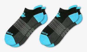 2-Pack ~ Ocean Blue/BLACK ~ Bombas Men's Ankle Socks Honeycomb Size Medium NWT